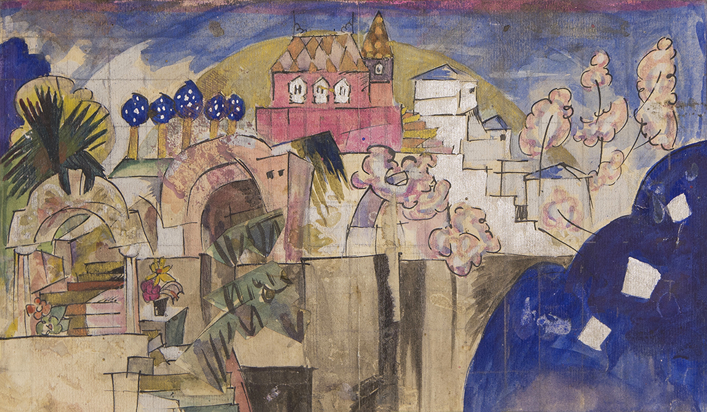 "Lentulov Aristarkh V. ""Sketch of scenery for Stravinsky's ballet ""Firebird"" 1919"