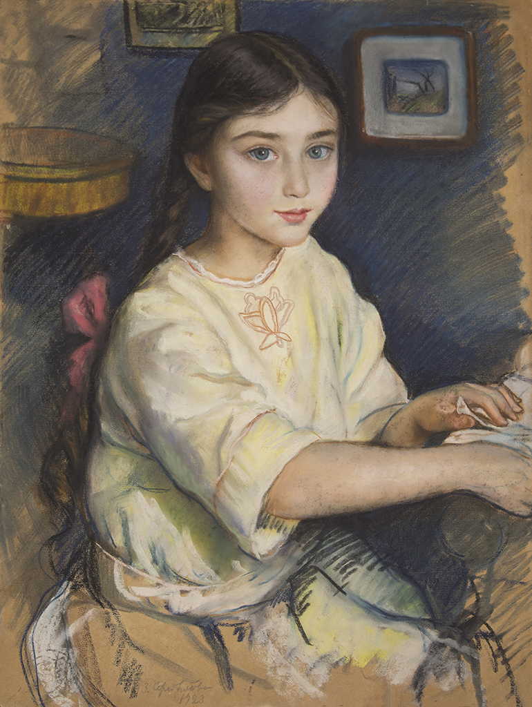 "Serebryakova Zinaida ""Portrait of Rybakova in childhood"" 1923"
