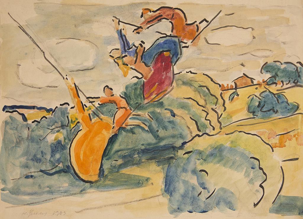 """Ульянов М.П. """"Гойдалка"""" 1903"""